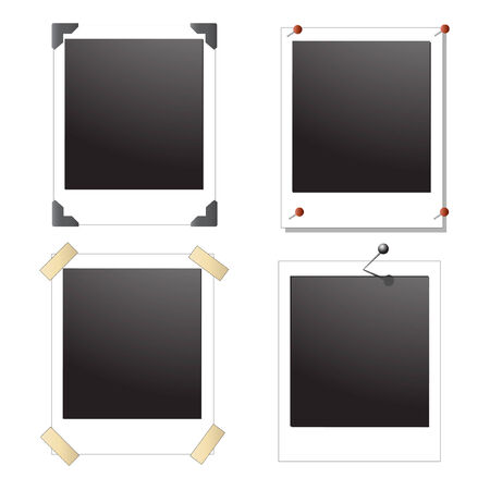collection of four blank photo frame Illustration