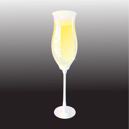 glamorous couple: Champagne glass vector illustration