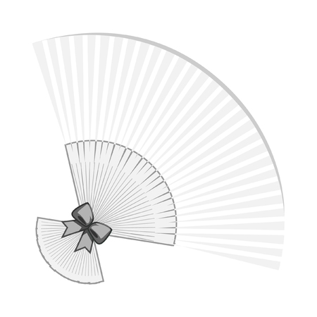 hand holding paper: chinese,japanese  fan vector illustration