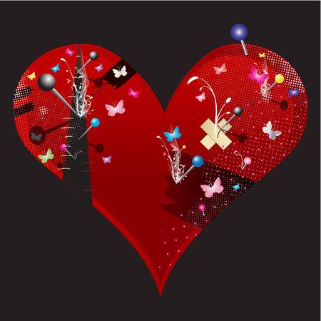 the heart vector illustration Vector