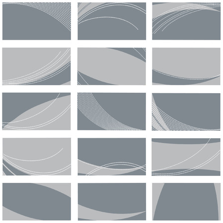 collection of grey business card templates