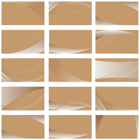 collection of beige business card templates