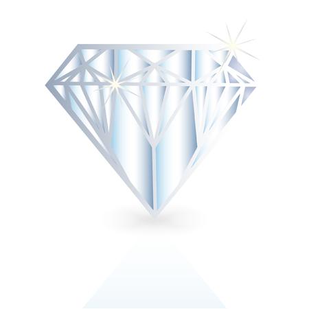 millonario: Diamante, ilustraci�n vectorial de cristal  Vectores
