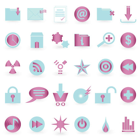 WEB icon and symbol  Vector set   Vector