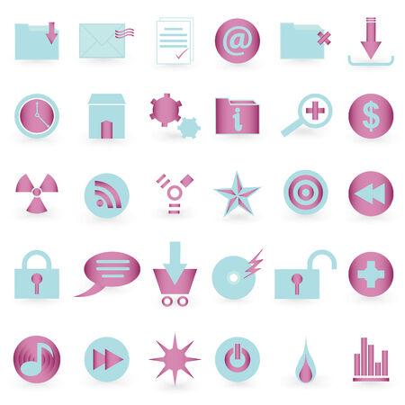 WEB icon and symbol  Vector set   Vector