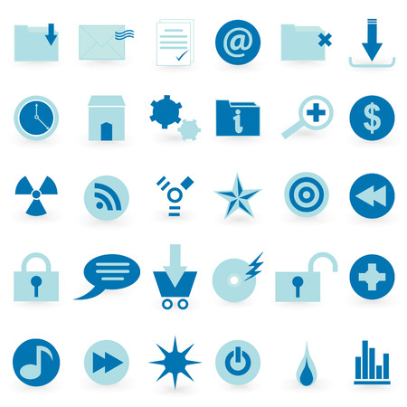 playback: WEB icon and symbol  Vector set   Illustration