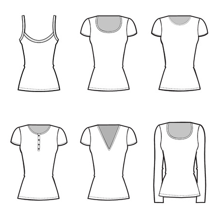 girls t-shirt fashion set Vector