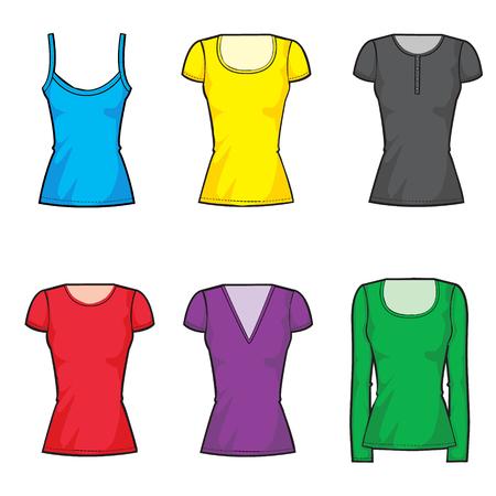 la mode féminine t-shirt de collecte mis en