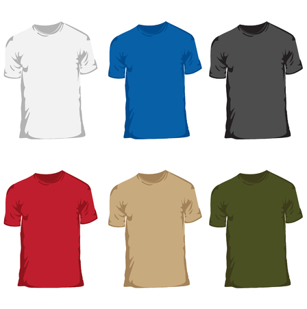 Men�s t-shirt collection set Stock Vector - 4121275
