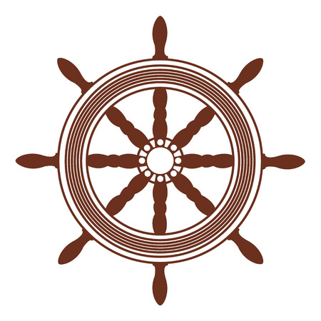 timon barco: buque ruedas, sistema de direcci�n Vectores