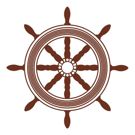 ship wheel, steering Vector