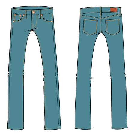 jeans vector illustration