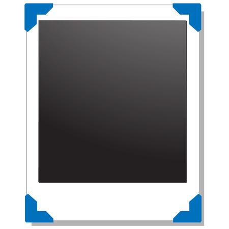 blank photograph frame illustration Vector