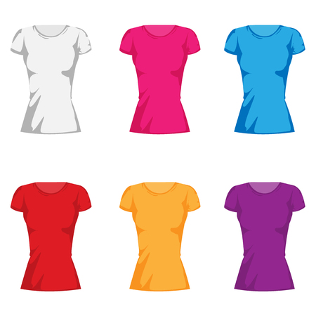 womens fashion t-shirt collection set