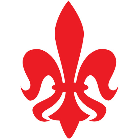 red fleur de lys symbol Illustration