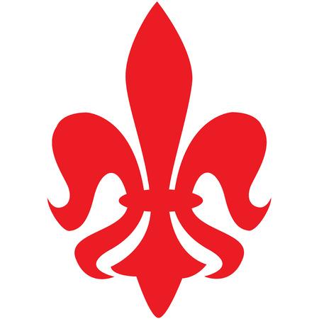 red fleur de lys symbol Illustration