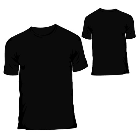 black blank T-shirt design template for menswear