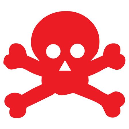 red danger scull icon Stock Vector - 4507090