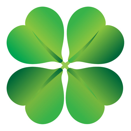 four leaf clover , shramrock vector illustration  Vector