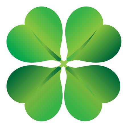 four leaf clover , shramrock vector illustration