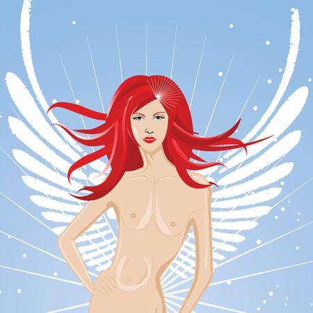 sexy fairy girl , angel Stock Photo - 4531371