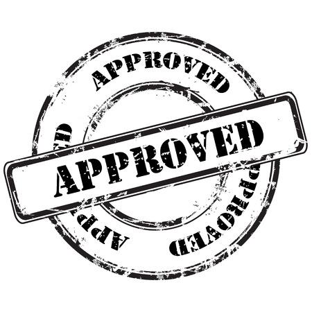 autorizacion: resumen aprobado grunge sello de goma Vectores