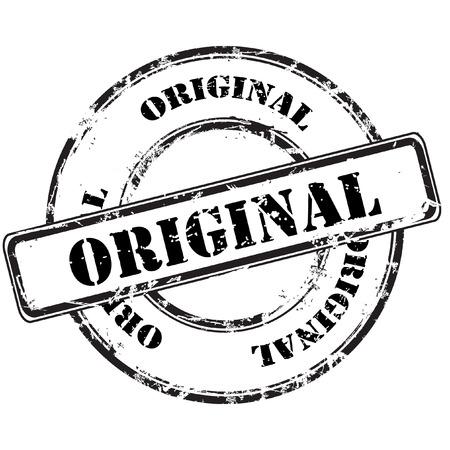 original abstract grunge rubber stamp Illustration