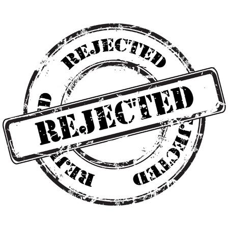 autorizacion: rechaz� resumen grunge sello de goma Vectores