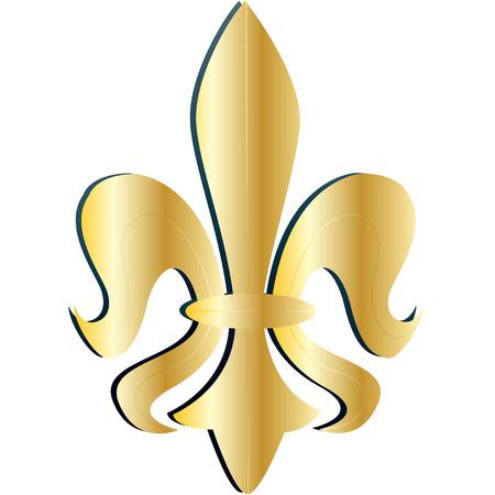 gold fleur de lys  Stock Vector - 4632506