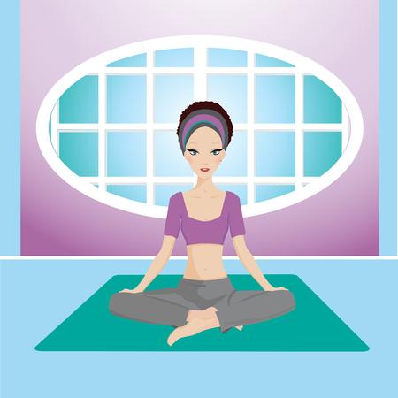stres: yoga girl