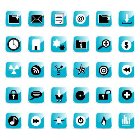 web icon buttons Stock Vector - 4691777