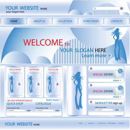 Web site design template, vector Vector