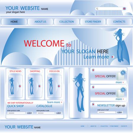 web site design: Web site design template, vector
