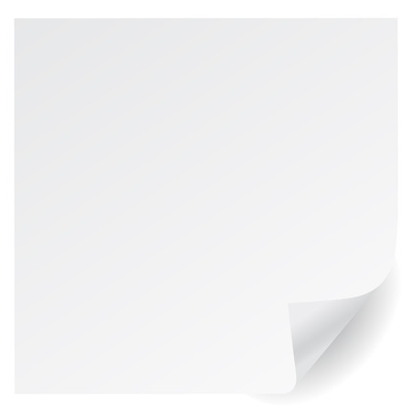 white page corner vector  Vector