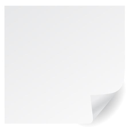witte pagina corner vector