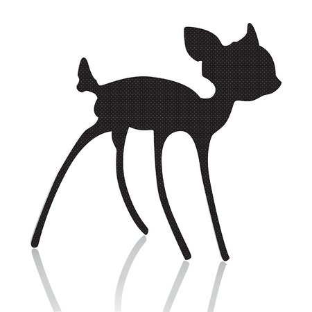 bambi silhouette vector illustration Illustration