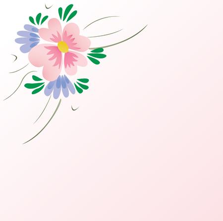 floral corner background Stock Vector - 4792220