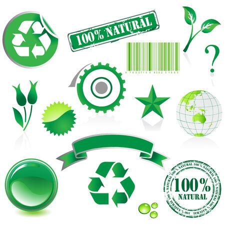 environment icon set Stock Vector - 5354004