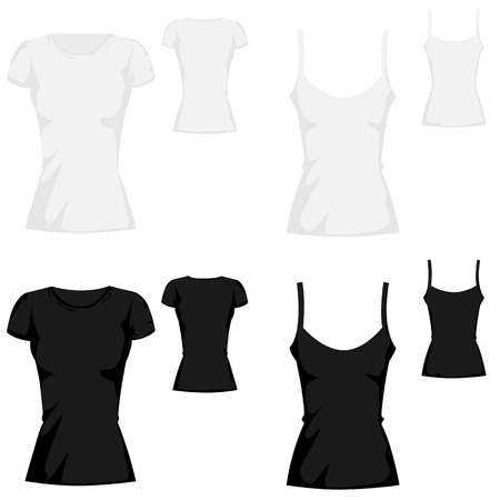 t-shirt template collection Illustration