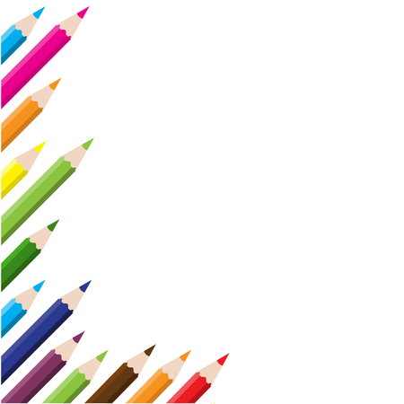 color pencils background Stock Vector - 5354005
