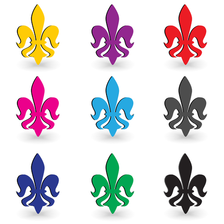 lys: fleur de lys set Illustration