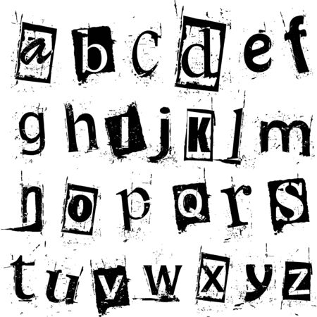 grammar: Grunge vector alphabet