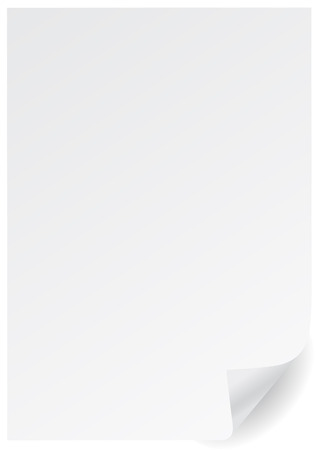 A4 white vector page  with corner