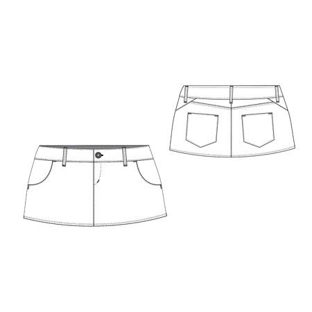 denim skirt: A vector illustration of Sexy Mini Skirt