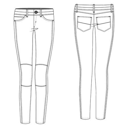 A Vector illustration of Biker Jean 向量圖像