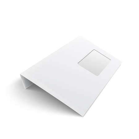 white stationery blank opened envelope e65 size with window