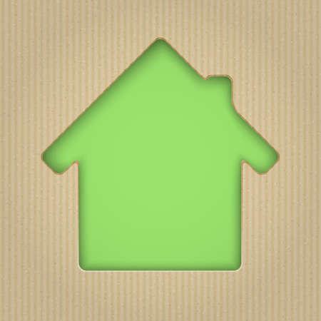 Casa cortado de cartón.