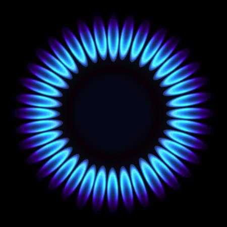 gas flame: Fiamma di gas naturale. Vector illustration Vettoriali