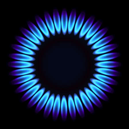 Natural gas flame. Vector illustration Vector