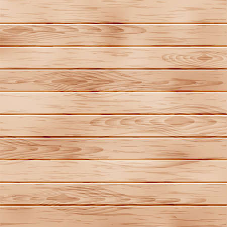 wood furniture: Realistic wooden texture with boards. Vector illustration. Stock Photo